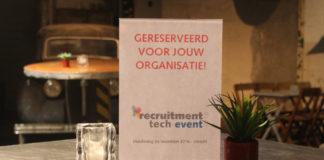 Met jouw team voordelig naar het Recruitment Tech Event 2016