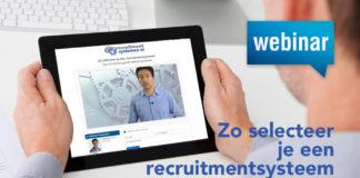 Replay lunchwebinar Zo selecteer je een recruitmentsysteem