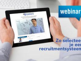Lunchwebinar Zo selecteer je een recruitmentsysteem: 7 juli