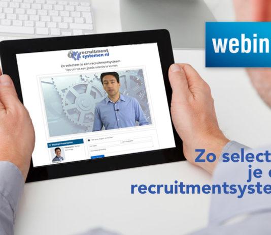 Lunchwebinar 11 december: Zo selecteer je een recruitmentsysteem
