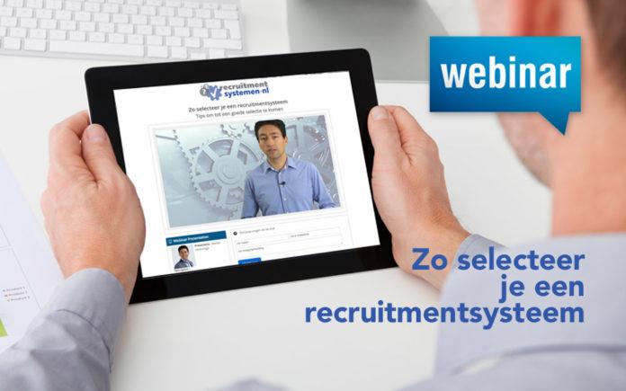 Lunchwebinar 4 februari: Zo selecteer je een recruitmentsysteem