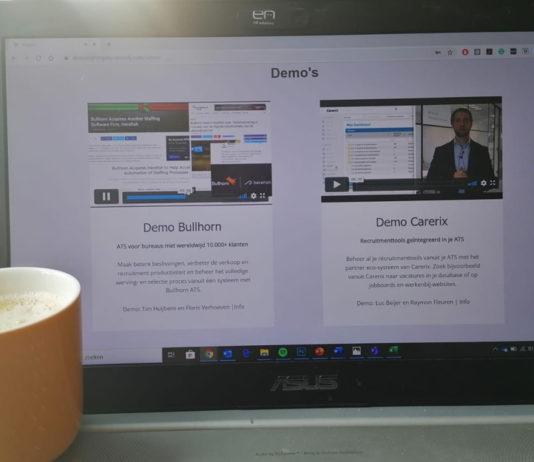 Kijk hier op je gemak de demo's en expertsessies van Demo_Night recruitmentsystemen voor bureaus terug